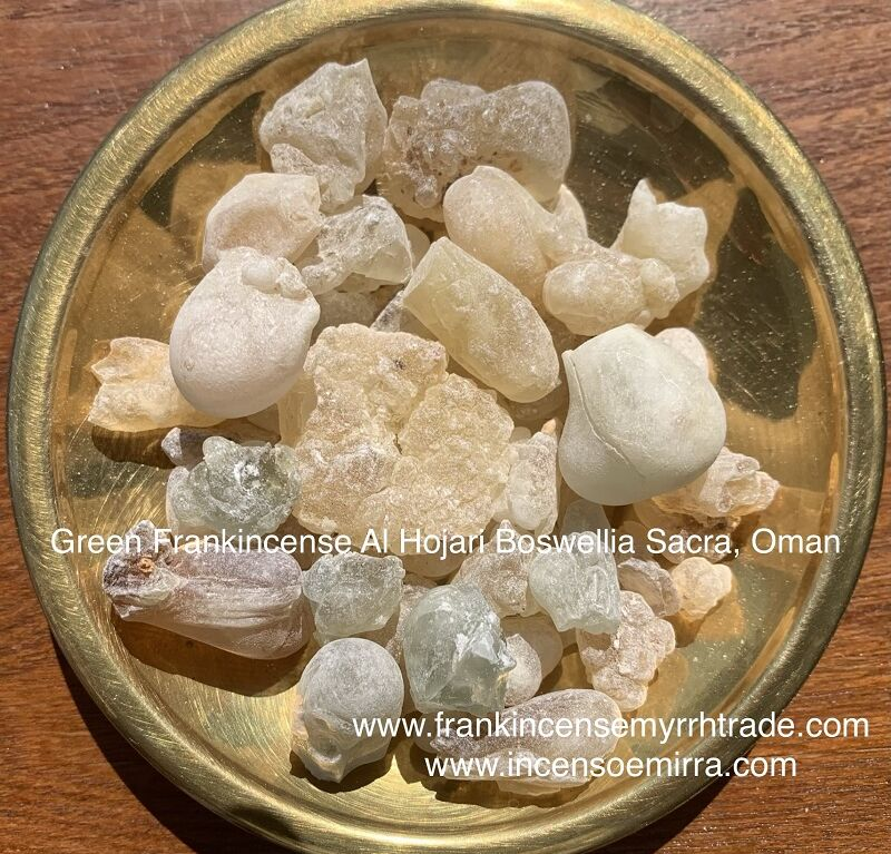 SALE: GREEN FRANKINCENSE AL HOJARI BOSWELLIA SACRA PURE RESIN GRAINS, SULTANATE OF OMAN, ROYAL GREEN HOJARI FRANKINCENSE BOSWELLIA SACRA.