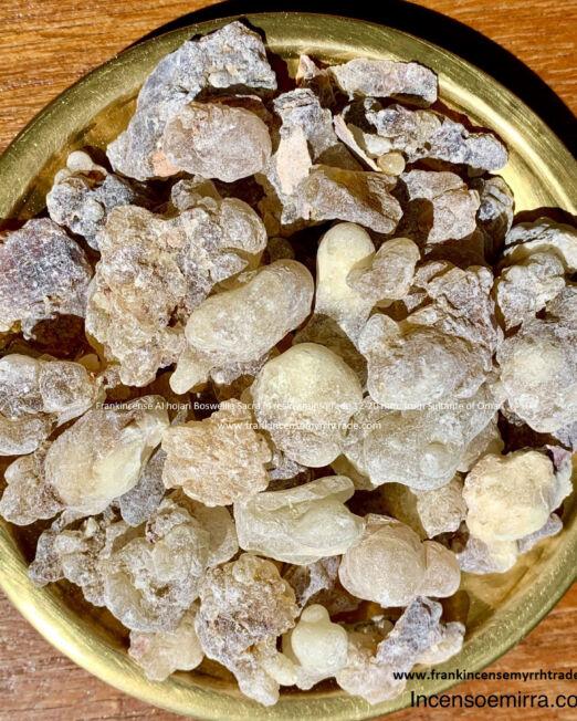 Incense Al Hojari Boswellia Sacra form Oman in resin grade grains 12-20 mm