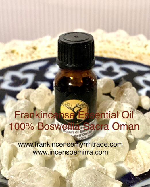 Frankincense Essential Oil in resin Al Hojary Boswellia Sacra Oman.