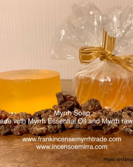 Myrrh Soap handmade with Myrrh Essential Oil and Myrrh raw resin. Myrrh Soap made in Oman, Aromatherapy with myrrh soap.